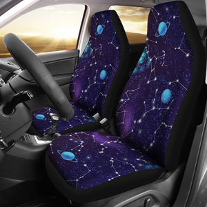 Zodiac Galaxy Design Print Universal Fit Car Seat Covers