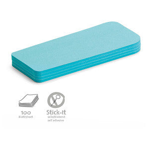 100 Stick-It Statement Cards, blue