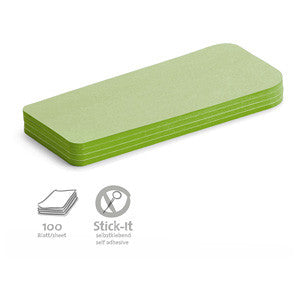 100 Stick-It Statement Cards, green