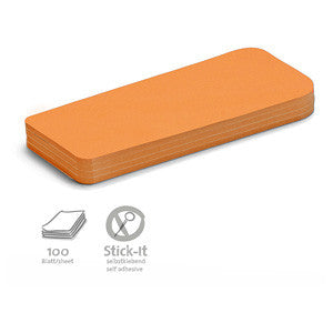 100 Stick-It Statement Cards, orange