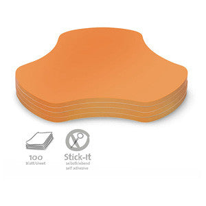 100 Stick-It Hub Cards, orange
