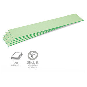 100 Stick-It Cards, titles, green