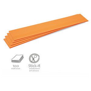 100 Stick-It Cards, titles, orange