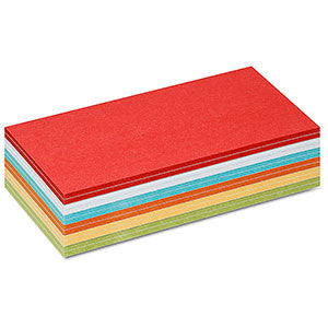 300 Stick-It Cards, rectangular,assorted