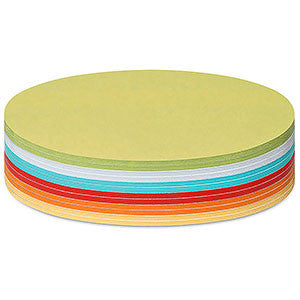 300 Stick-It Cards, oval, assorted