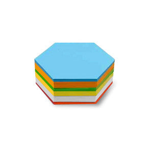 500 Pin-It Cards, hexagonal, assorted