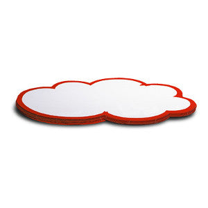 50 WorkshopClouds - large, white/red