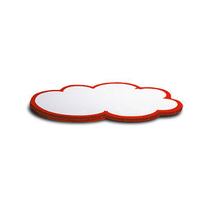 50 WorkshopClouds - medium, white/red