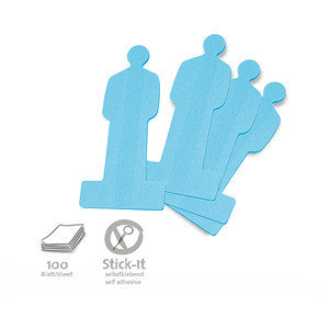 100 Stick-It Cards, people, blue