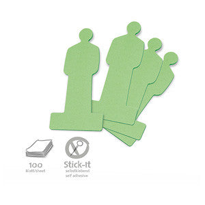 100 Stick-It Cards, people, green