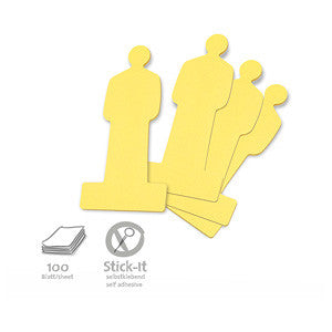 100 Stick-It Cards, people, yellow