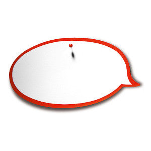 100 Workshop SpeechBubbles, white/red
