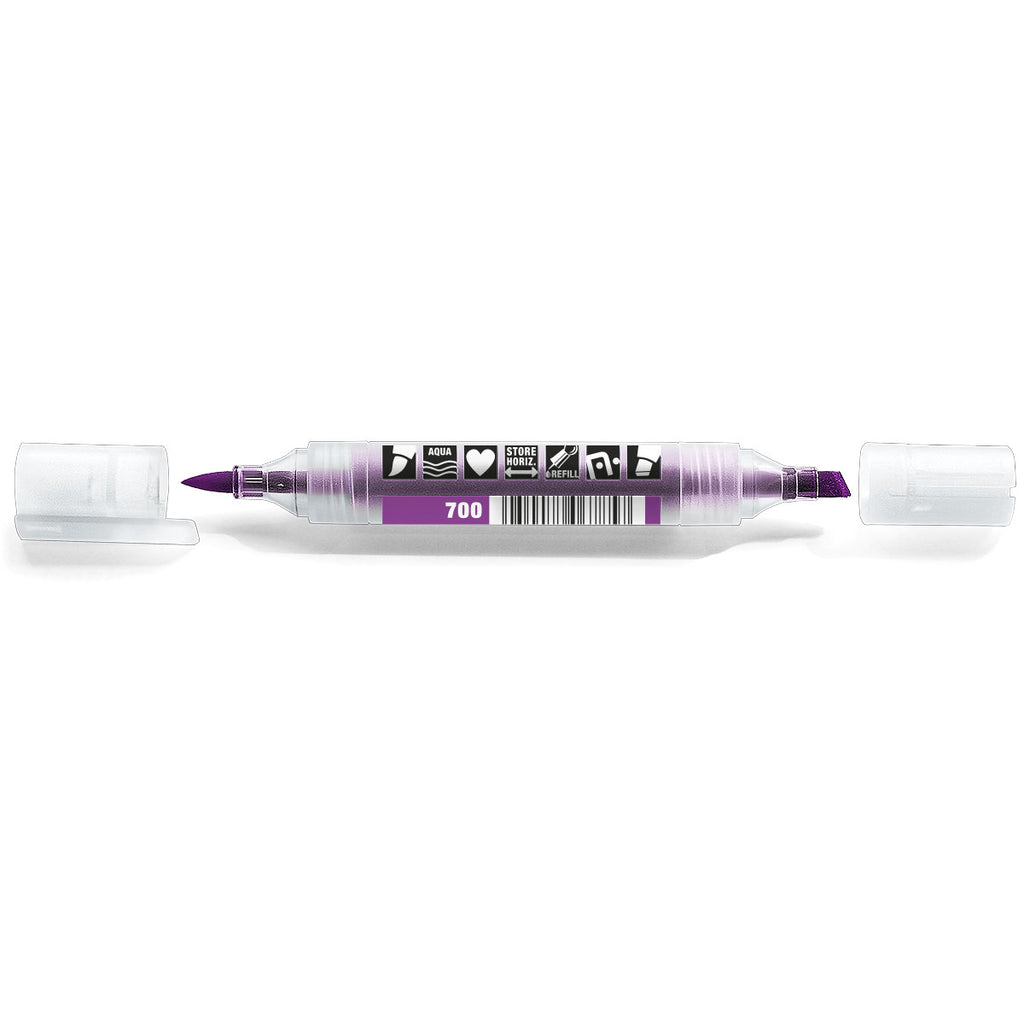 Neuland TwinOne®, chisel- and brush nib, 700 violet