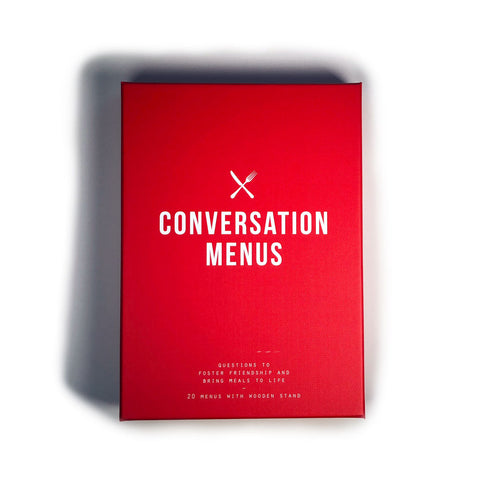 Conversation Menus - 20 Menus with 12 questions per menu, across varying themes - to foster friendship and bring meals to life.