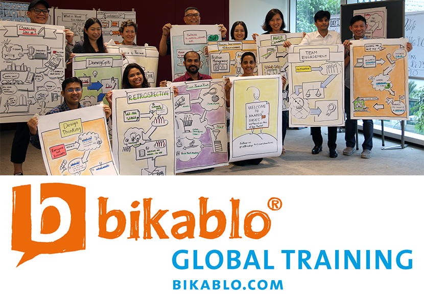 Visual Facilitation - 1 Day bikablo basics Training in Singapore (8th June 2018) - No drawing skills required