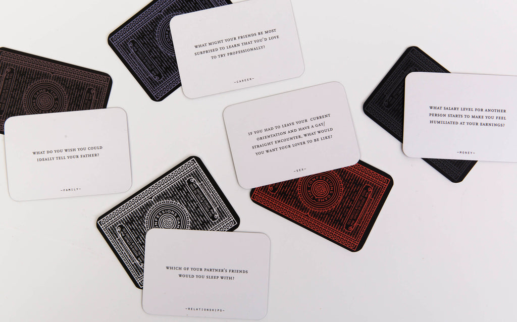 The Confessions Game - A simple game of cards and dice which opens up daring conversations.