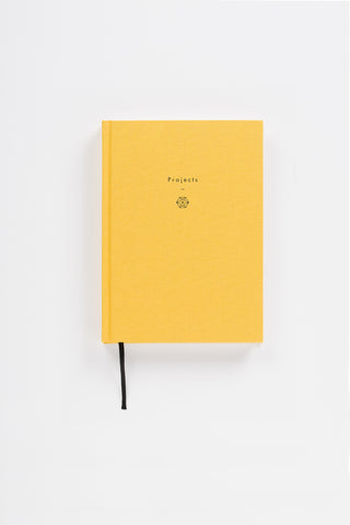 Writing As Therapy Journal - Projects - A linen-bound notebook designed to accommodate ideas, aspirations and worries in the therapeutic activity of writing down your thoughts.