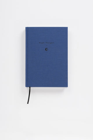 Writing As Therapy Journal - Night Thoughts - A linen-bound notebook designed to accommodate ideas, aspirations and worries in the therapeutic activity of writing down your thoughts.