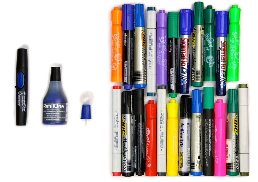 lllinedup.com.sg minimize waste by refilling the markers