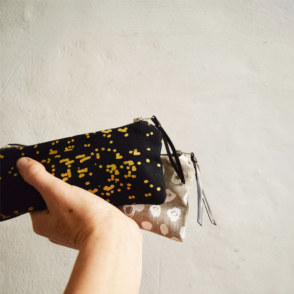 The Pencil Case Gold Double Dot