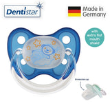 OceanoKidz.com - Dentistar Tooth-friendly Flat Night Pacifier (0-6 months) size 1 with protective cap - Little Bear