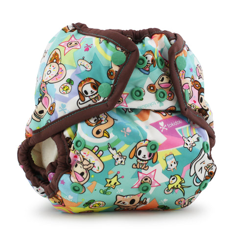 OceanoKidz.com - Kanga Care x tokidoki - Rumparooz SNAP Cloth Diaper Cover (One Size) - tokiSweet - Mint Chip