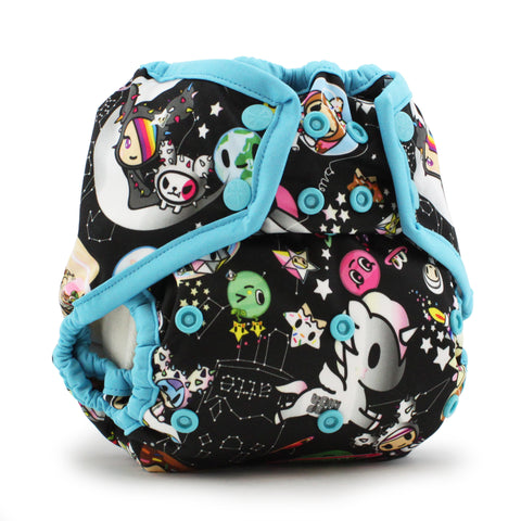 OceanoKidz.com - Kanga Care x tokidoki - Rumparooz SNAP Cloth Diaper Cover (One Size) - tokiSpace - Aquarius