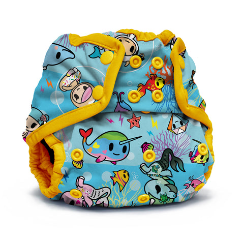 OceanoKidz.com - Kanga Care x tokidoki - Rumparooz SNAP Cloth Diaper Cover (One Size) - tokiSea *Limited Edition*