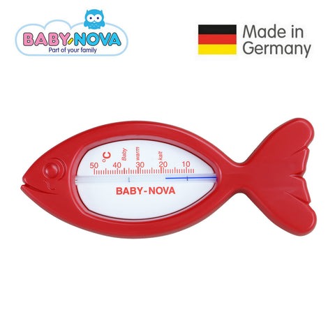 OceanoKidz.com - Baby Nova Bath Thermometer Fish - Red/White