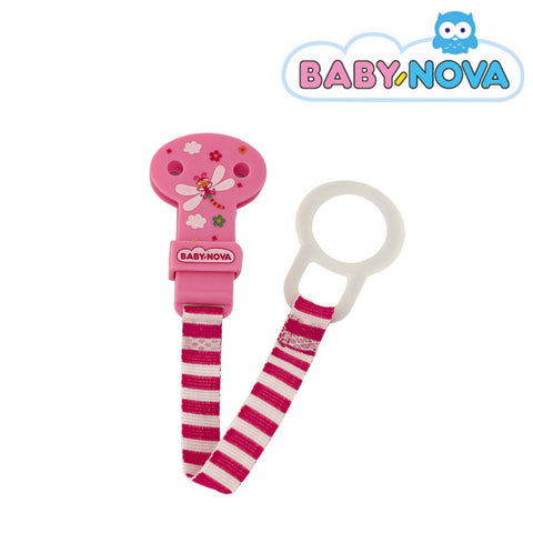 OceanoKidz.com - Baby Nova Pacifier Holder in Pink - Dragonfly