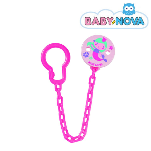 OceanoKidz.com - Baby Nova Pacifier Chain in Pink - Mermaid