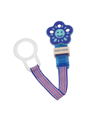 Baby Nova Pacifier Holder Flower in Blue