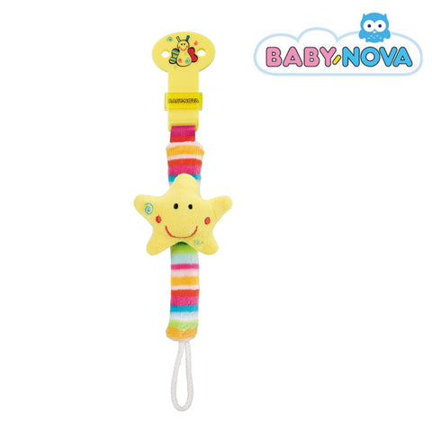 OceanoKidz.com - Baby Nova Pacifier Holder with Rattle - Star