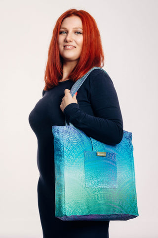 OceanoKidz.com - LennyLamb Shoulder Bag (37cm x 37cm) - PEACOCK'S TAIL - FANTASY