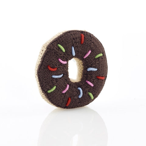 OceanoKidz.com - Pebble Donut Rattle - Chocolate