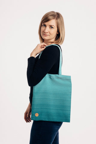 OceanoKidz.com - LennyLamb Shopping Bag -  Little Herringbone Ombre Teal