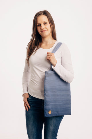 OceanoKidz.com - LennyLamb Shopping Bag -  Little Herringbone Ombre Blue