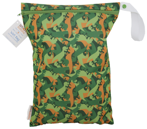OceanoKidz.com - Smart Bottoms On the Go Wet Bags - Camo Dino