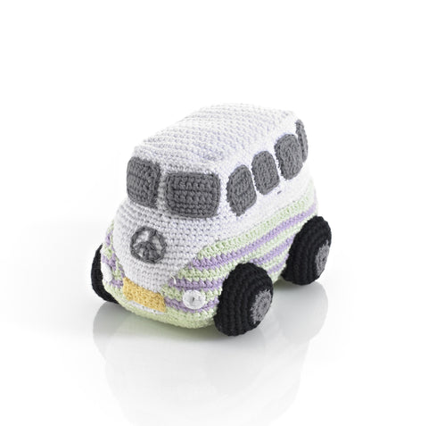 Pebble Crochet Campervan - White