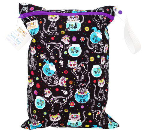 Smart Bottoms On the Go Wet Bags - Day of the Dead Cat