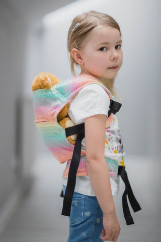 OceanoKidz.com - LennyLamb Doll Carrier - Little Herringbone Imagination (100% Cotton)