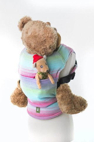 OceanoKidz.com - LennyLamb Doll Carrier - Little Herringbone Impression (100% Cotton)