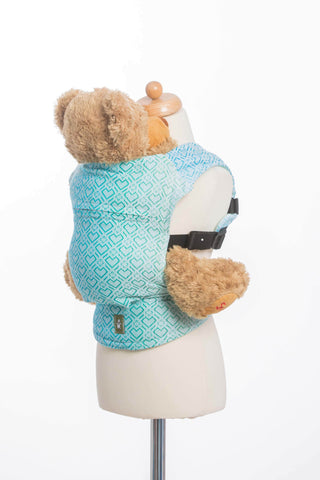 LennyLamb Doll Carrier - Big Love - Ice Mint (100% Cotton)