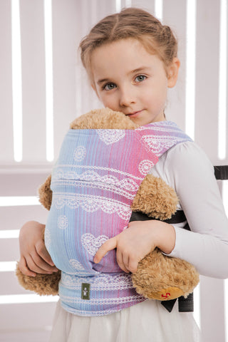 OceanoKidz.com - LennyLamb Doll Carrier - Rainbow Lace (100% Cotton)