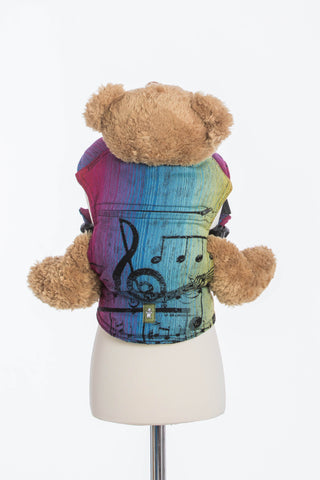 LennyLamb Doll Carrier - Symphony Rainbow Dark (100% Cotton)