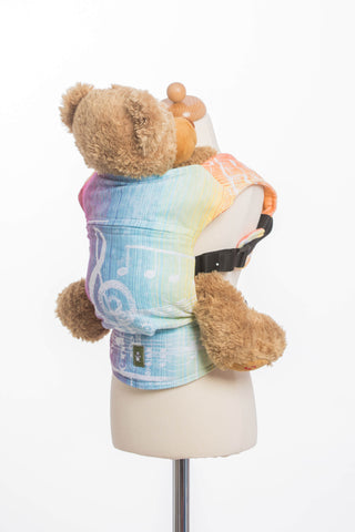 OceanoKidz.com - LennyLamb Doll Carrier - Symphony Rainbow Light (100% Cotton)