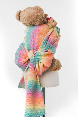 LennyLamb Doll Sling - Little Herringbone Imagination (100% Cotton)