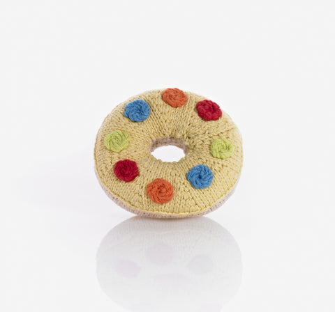 Pebble Donut Rattle - Yellow