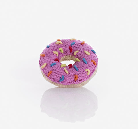 Pebble Donut Rattle - Pink