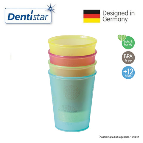 Dentistar Drinking Cups, set of 4 (12+ months)